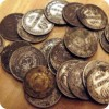 Остатки клада монет довоенного периода