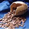 158 медных монет в горшке